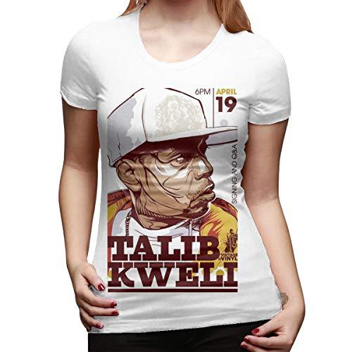 Kemeicle Women's Talib Kweli Comic Short Sleeves Shirts White
