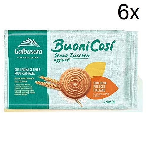 6X Galbusera Buoni così Frollino Classico Butter Biscuit Classic Snack 330g