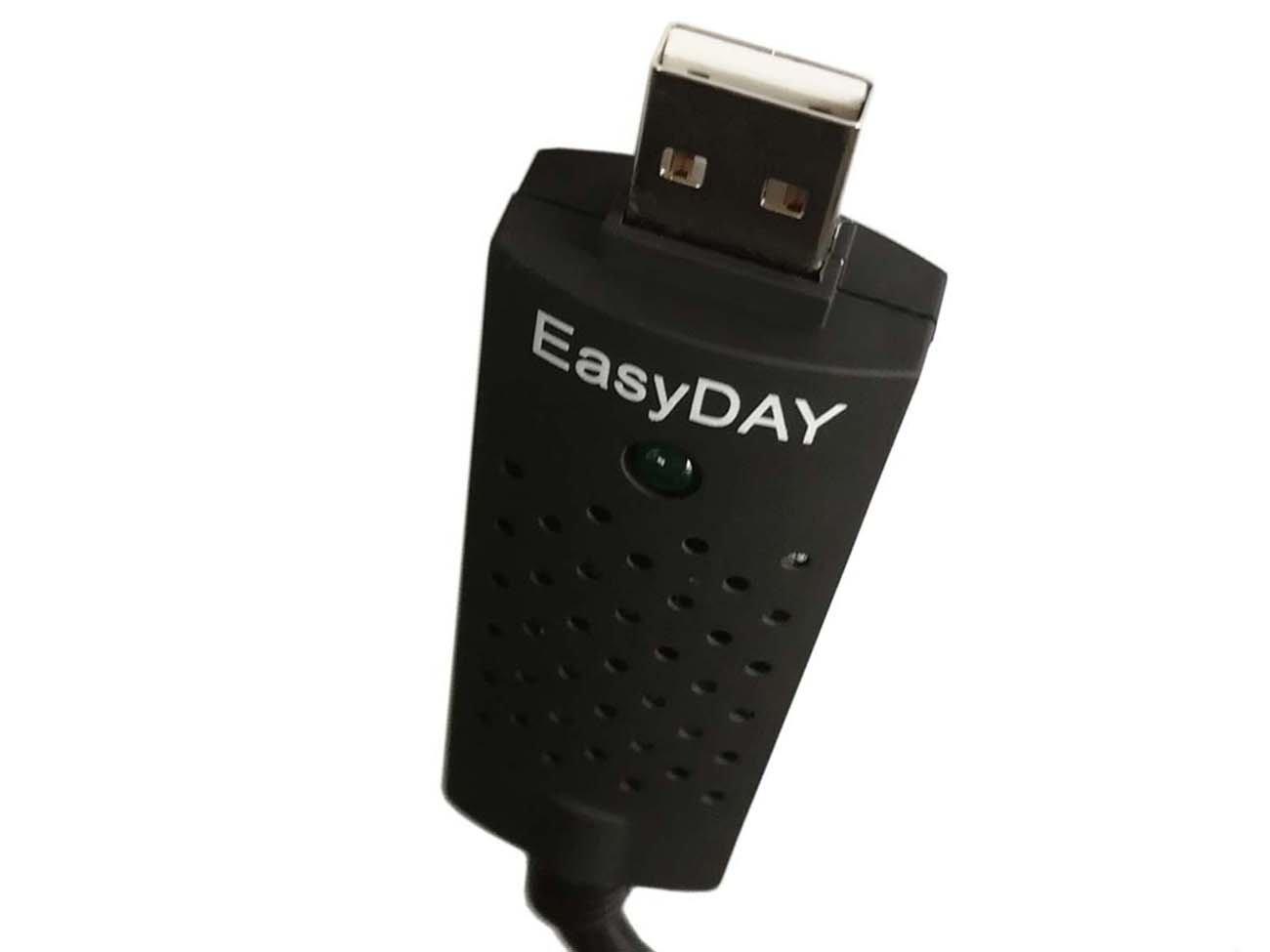 Easyday DC60 USB 2.0 Adaptateur de Carte de Capture vid/éo Audio Grabber Easycap avec ChipSet UTV 007 pour Windows 7 8 10