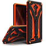 zte blade 3 case - ZIZO STATIC Series compatible with ZTE Max XL/Blade X Max - Shockproof [Military Grade Drop Tested] w/Kickstand - Blade Max 3 (Black/Orange)