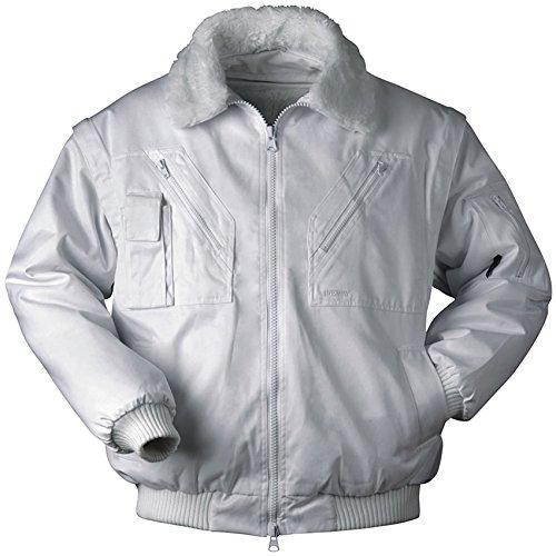 Piloten-Jacke 4 in 1 - Kragenfutter und Ärmel abtrennbar - weiß - Größe: 4XL