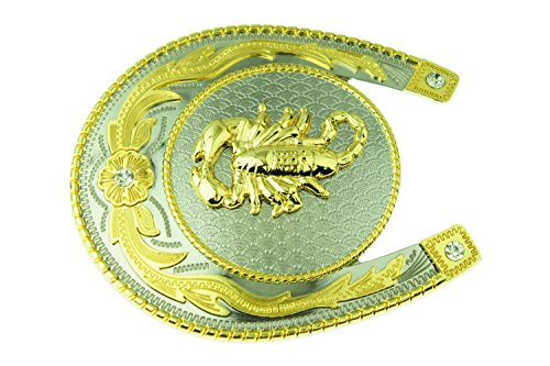 RIDE AWAY Rodeo Scorpion Western Style Gold/Silver Color Multiple Size/Shape Belt Buckles (Scorpion (Scorpion Buckle)