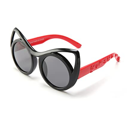 Ojos de Gato Diseño Niños Gafas de Sol polarizadas Protección UV400 Lentes de Reflejo de Marco
