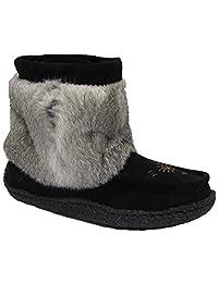 Women's Medium Mukluk with Real Rabbit Fur