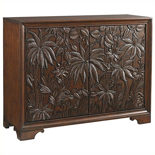 Tommy Bahama Home Landara Balboa Carved Door Accent Chest in Rich Tobacco (Bahama Tommy Furniture Bedroom)
