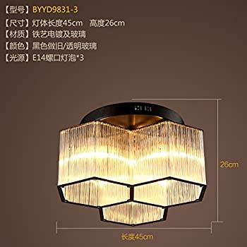 Cttsb ceiling lamp Crystal Creative Crystal Personal Living Room Restaurant Bedroom Flower Style American Countryside BYYD9831-3 ceiling light