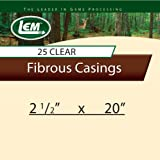 LEM Products 2 1/2 x 20-Inch Non-Edible Fibrous Casing