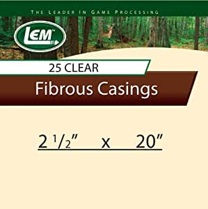 LEM Products 2 1/2 x 20-Inch Non-Edible Fibrous Casings (Clear)