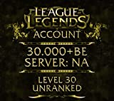 League of Legends Account NA Level 40 30.000+ BE
