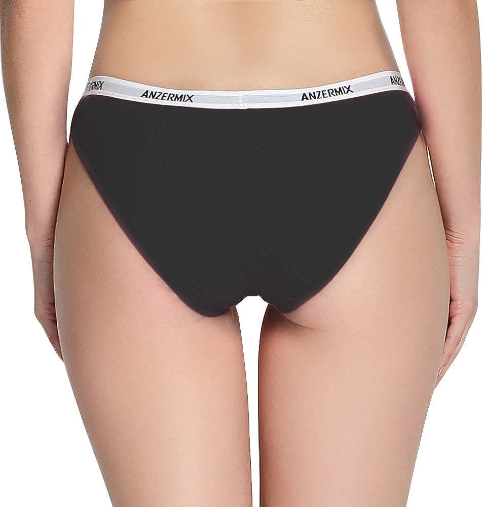 Anzermix sous-v/êtement Simple et Comfortable Coton pour Femmes Lot de 6