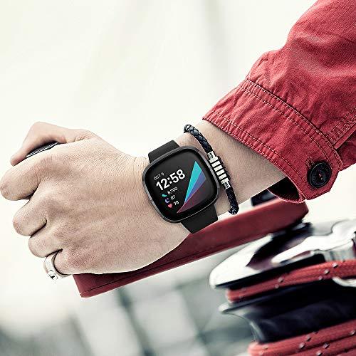 Mocodi Sense Bands Compatible with Fitbit Sense & Fitbit Versa 3, 12-Pack Soft TPU Sport Strap Replacement Wristband Accessories Women Men for Fitbit Sense & Versa 3 SmartWatch
