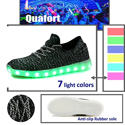 4438b576c381 Quafort Men Women Light up LED Fashion Sneakers outlet ...