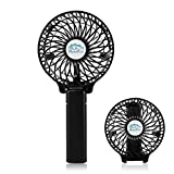 Handheld Fan, Portable Folding Rechargeable Battery Electric Personal Mini Cooling Fan for Home Office Desktop Travel Camping Black