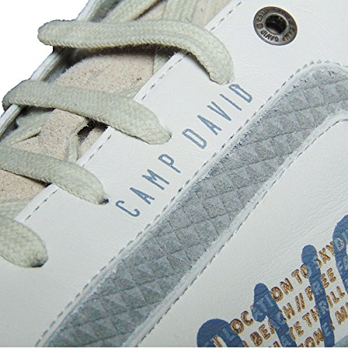 CAMP DAVID Herren Leder Sneaker Schuhe Schnürschuhe Gr.45 Weiß