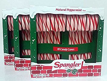 (Peppermint Candy Canes 3 - 18 ct boxes)