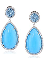 CZ by Kenneth Jay Lane Pave Cubic Zirconia Drop Earrings