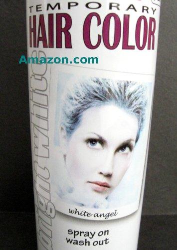 White Hair Spray Paint Hair Coloring
