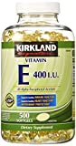 Kirkland Signature Vitamin E 400 I.U. 500 Softgels Review and Comparison