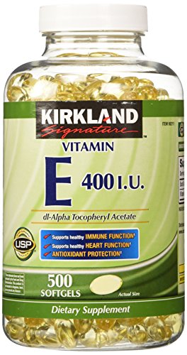 Kirkland Signature Vitamin E 400 I.U. 500 Softgels, Bottle from Kirkland Signature