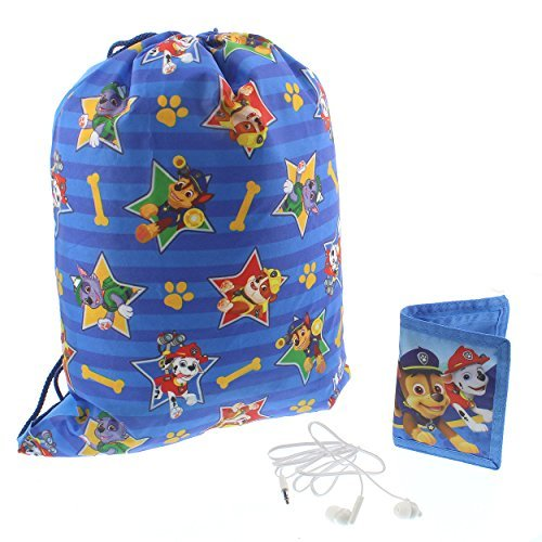 Paw Patrol Backpack Headphones and Wallet Boxed Gift Set (Blue)