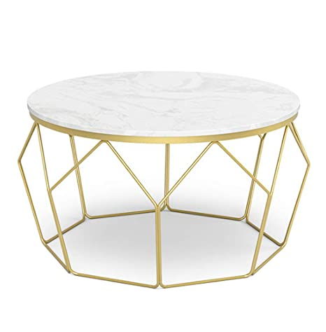 Brilliant Amazon Com Round Coffee Table Marble Couch Tables Modern Beatyapartments Chair Design Images Beatyapartmentscom