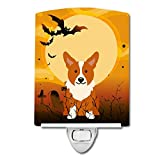 Caroline's Treasures Halloween Corgi Ceramic Night Light, 6 x 4, Multicolor