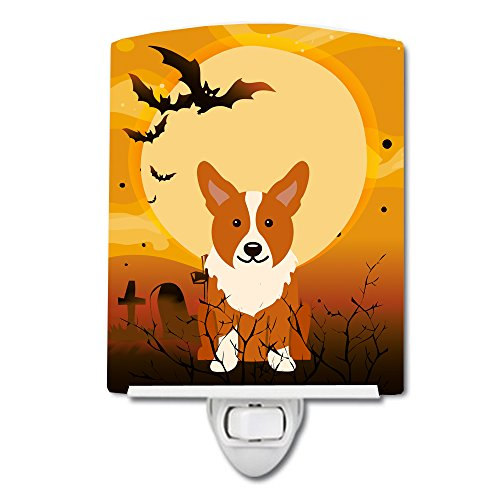 Caroline's Treasures Halloween Corgi Ceramic Night Light, 6 x 4, Multicolor by Caroline's Treasures