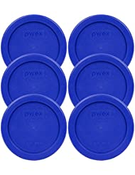 Pyrex 7202-PC Round 1 Cup Storage Lid for Glass Bowls (6, Cobalt Blue)