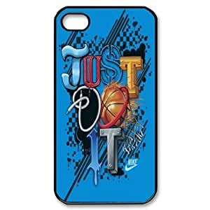 NIKE JUST DO IT Classic Design Print Black Case With Hard Shell Cover for Apple iPhone 4/4S