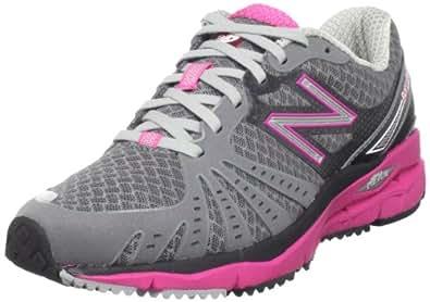 New Balance Women's WR890 Running Shoe,Grey/Pink,7.5 B US