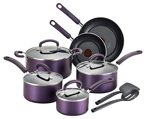 T-FAL Color Luxe Titanium Nonstick Thermo-Spot Dishwasher...