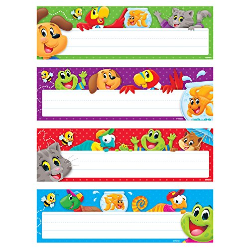 TREND enterprises, Inc. Playtime Pals Desk Toppers Name Plates Var.Pk., 32 (Desk Plates Frogs)