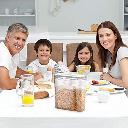 Cereal Container Storage Set - 3 Piece Airtight Food Storage Containers. BPA Free Dispenser Storage Container Set with Free Labels & Pen - by Simple Gourmet
