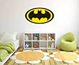 Logo Batman - Wall Decal for Home Nursery Decoration (Wide 20''x11'' Height Inches)