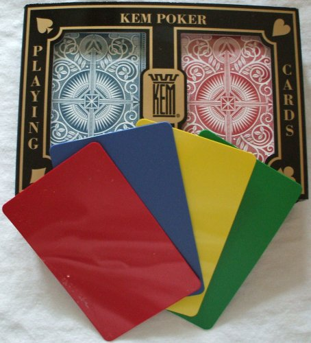 2 Free Cut Cards + KEM Arrow Red Blue Playing Cards Poker Size Jumbo Index by KEM