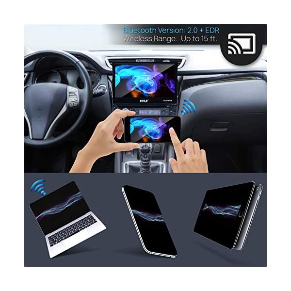 Single-DIN-Head-Unit-Receiver-in-Dash-Car-Stereo-with-7-Multi-Color-Touchscreen-Display-Audio-Video-System-with-Bluetooth-for-Wireless-Music-Streaming-Hands-Free-Calling-Pyle-PLTS78DUB