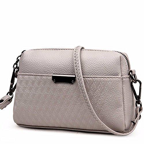 coursier sac Gris sac 20 7 de petites de black femmes cm nouveau pochette sac groupe style sac 13 mobile Clair summer qwPHOx