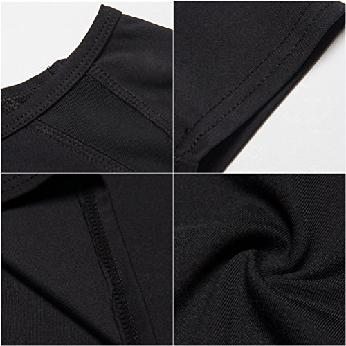 Zhhlinyuan Sports Yoga Training Womens Long Sleeve Performance Quick dry Fashion Top Black