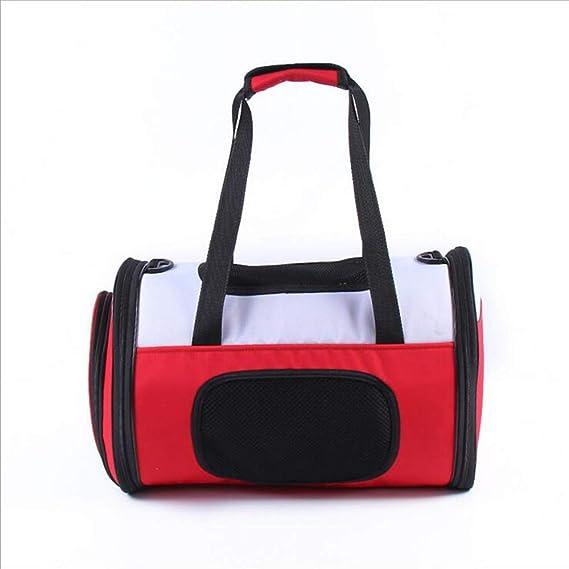 ACLBB Mochila Diagonal portátil para Mascotas de Lino, Mochila portabebés portátil Impermeable y Transpirable, Perros, Gatos, Mascotas pequeñas,Red: ...