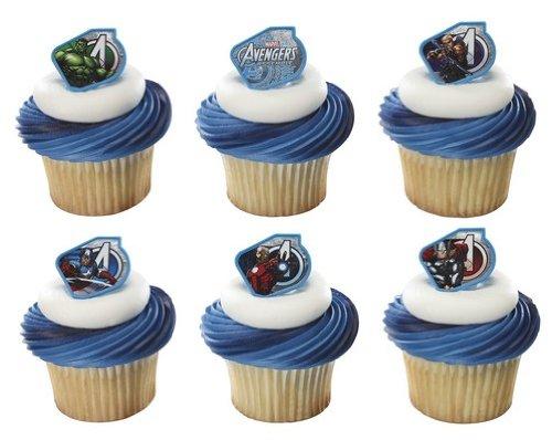Marvel Avengers Assemble Warriors Cupcake Rings - 24 pcs