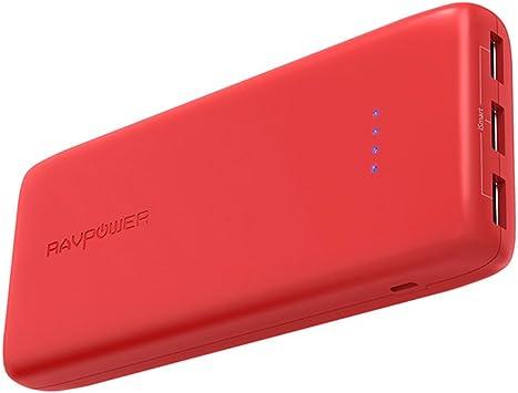 RAVPOWER Baterias Externa 22000mAh Rapida 3 Puertos USB Salida ...