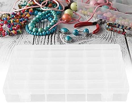 36 Grids Plastic Jewelry Adjustable Box Detachable Jewellery Beads Organizer