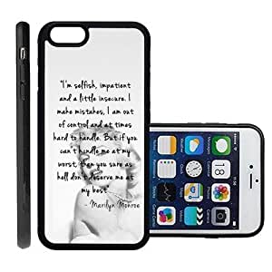 RCGrafix Brand Marilyn Monroe Inspirational Quote Apple Iphone 6 Plus Protective Cell Phone Case Cover - Fits Apple Iphone 6 Plus