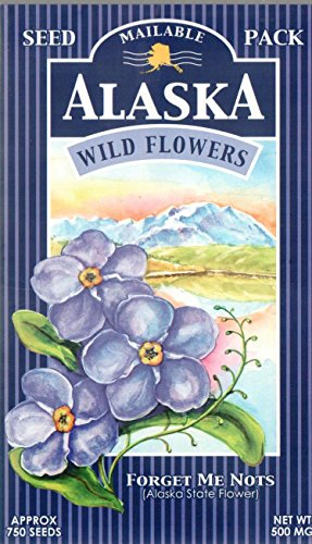 "Wildflowers of Alaska ""Forget Me Nots"" Seed Postcard (750 Seeds)"