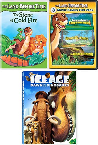 Little Dino Tales 5 Land Before Time Adventures Great Day Flyer / Stone Cold Fire / Wisdom of Friends / Tinysauruses Invasion + Ice Age Dawn of Dinosaurs (The Land Before Time Invasion Of The Tinysauruses)