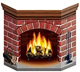Beistle 1-Pack Brick Fireplace Stand-Up for Party Decorations, 3-Feet 1-Inch by 25-Inch