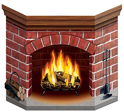 Brick Fireplace Stand-Up Party Accessory (1 count) (1/Pkg) ()