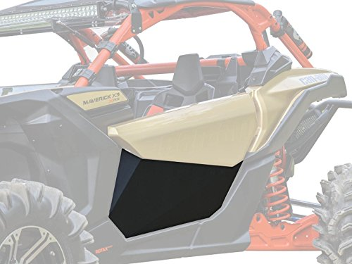 SuperATV Heavy Duty Aluminum Lower Door Insert Panels for Can-Am Maverick X3 (2016+) - Easy Installation and a Rattle-Free Fit! - Black (Door Panels Rs)