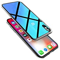 Wireless Charger iPhone X Case, Ztotop 2018 Slim Fit Gradual Colorful Gradient Change Color Case for Apple iPhone X/10 with Ultra Thin Lightweight Anti-Drop Hard Back, Transparent Blue