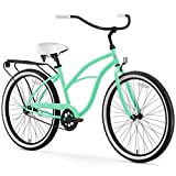 sixthreezero Around The Block Women's Beach Cruiser Bicycle or Electric Bike, 24-Inch and 26-Inch